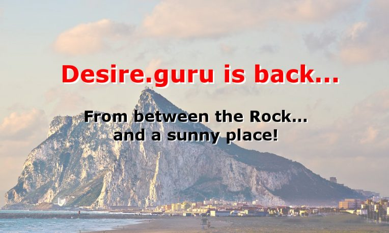 the rock of gibraltar with message overlay